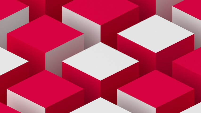 Abstract 3d render, rotating cubes, modern animation, geometric background, motion design, 4k seamless looped video | Shutterstock HD Video #1030583246