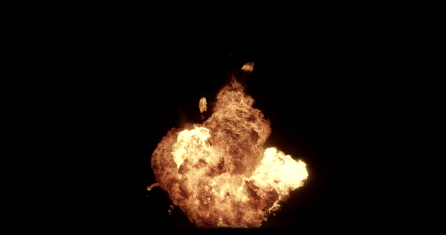 Close Up fire explosions and blasts. Explosion Spark and Particles Moves in isolated black background, fire and bomb explosion,  Burning fire Flames Igniting, Real fire, Giant real gas explosion, 4K | Shutterstock HD Video #1030604564