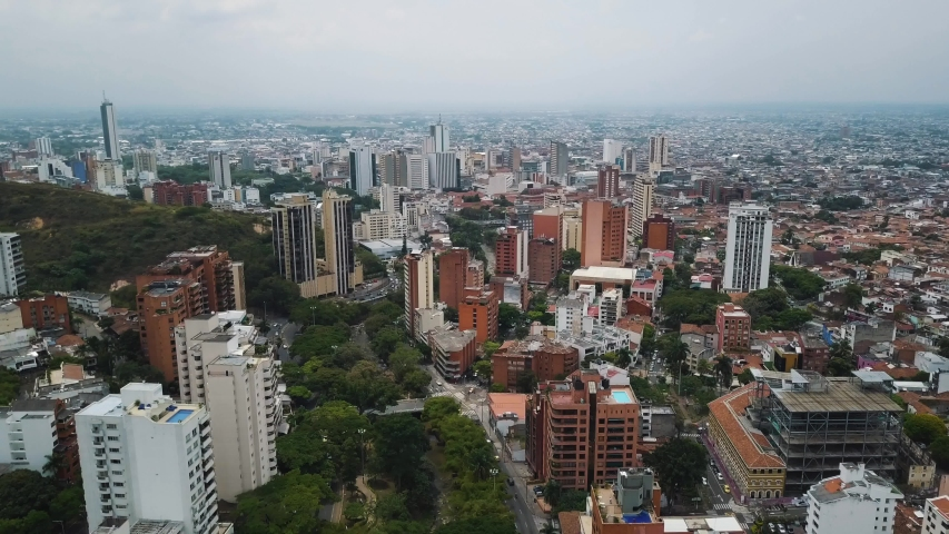 Drone Aerial footage of Cali, Colombia - South America | Shutterstock HD Video #1030655795