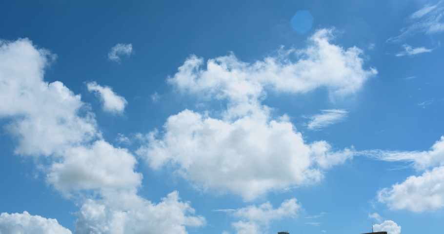 Nature Background - Blue Sky With Clouds #1030660856