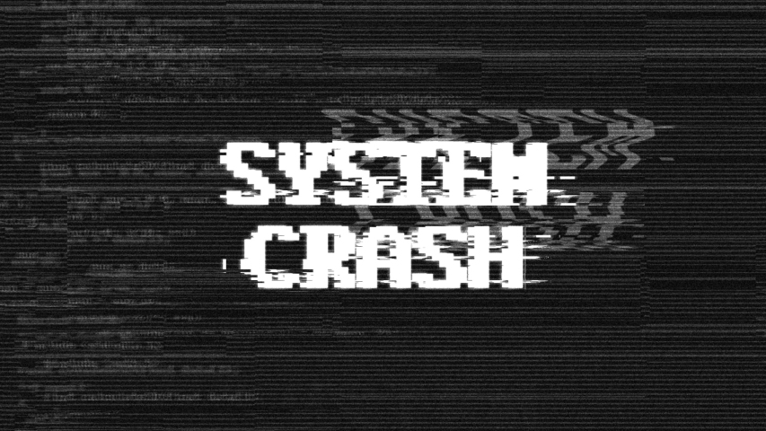 SYSTEM CRASH Glitch Text Animation, Rendering, Background, with Alpha Channel, Loop, 4k  | Shutterstock HD Video #1030672073