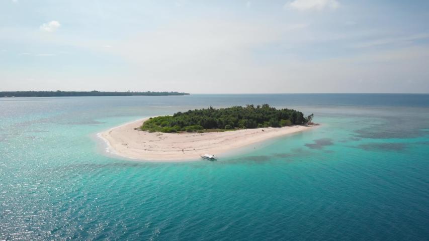 Paradise from above in Balabac, Palawan, aerialshot of Patawan island, Philippines