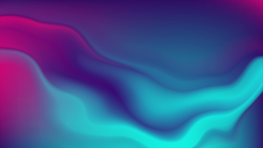 Blue and purple neon flowing liquid waves abstract motion background. Seamless loop. Video animation Ultra HD 4K 3840x2160 #1030723829