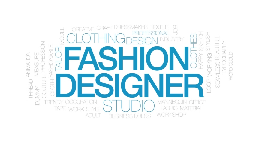 Fashion Designer Animated Word Cloud Stock Footage Video 100 Royalty Free 1030744919 Shutterstock