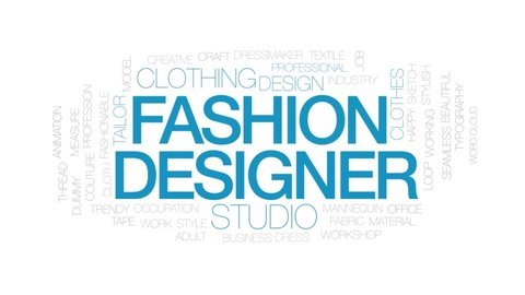 Fashion Designer Animated Word Cloud Stock Footage Video 100 Royalty Free 25645349 Shutterstock