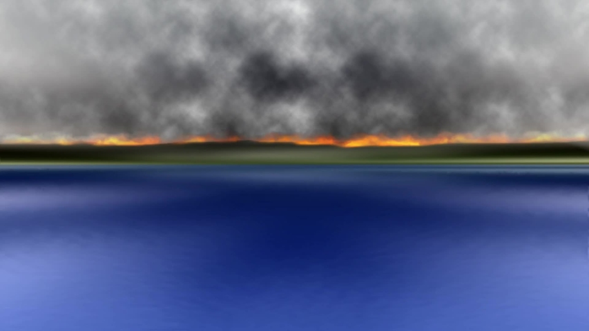 Mountains in Flames Fire Background Animated | Shutterstock HD Video #1030798091
