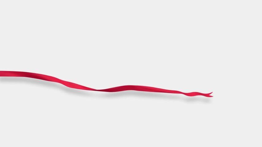 Red silk ribbon develops in the wind. 3d animation | Shutterstock HD Video #1030875968
