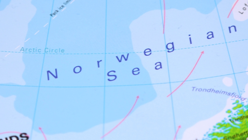 Iceland on a political map - closeup   Shutterstock HD Video #1030891925