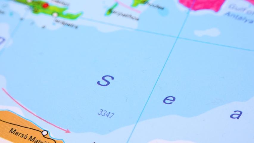Cyprus on a political map - closeup   Shutterstock HD Video #1030892024