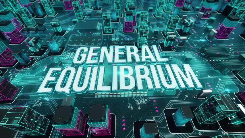 General Equilibrium digital technology hi-tech concept | Shutterstock HD Video #1030918745