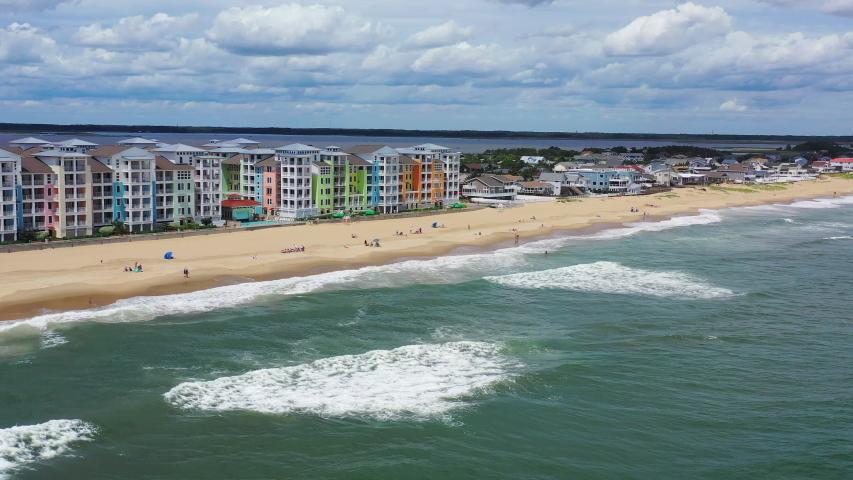 Virginia beach aerial drone shot