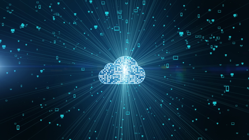 Cybersecurity digital data of futuristic and technology of the internet and big data of cloud computing using artificial intelligence, 5g high-speed connection data analysis abstract background. | Shutterstock HD Video #1030947224