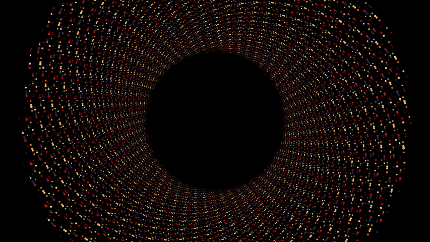 Looping circular abstract spiral motion design on black background   Shutterstock HD Video #1030965830