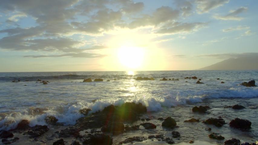 Maui Beach Sunset Time Lapse 4k | Shutterstock HD Video #1030975706