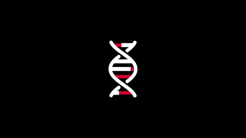 Medical DNA icon 4k video background loop 2d animation Alpha Channel Medical icons