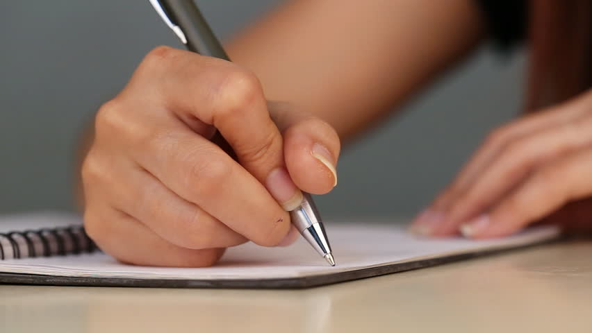 Close-up of Hand Writing On Stock Footage Video (100% Royalty-free)  10311701 | Shutterstock