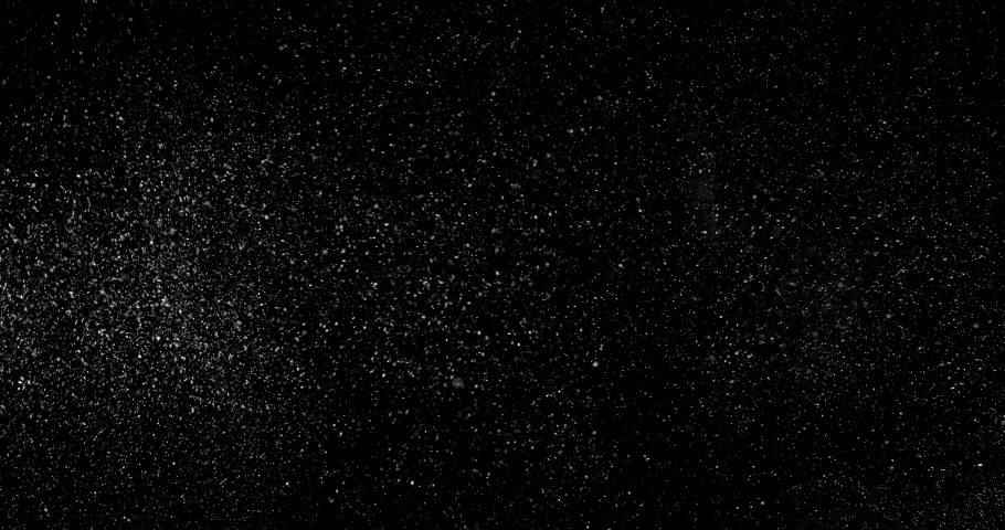 Particle dust cloud dynamically floating with turbulent wind on black background 4k | Shutterstock HD Video #1031214683