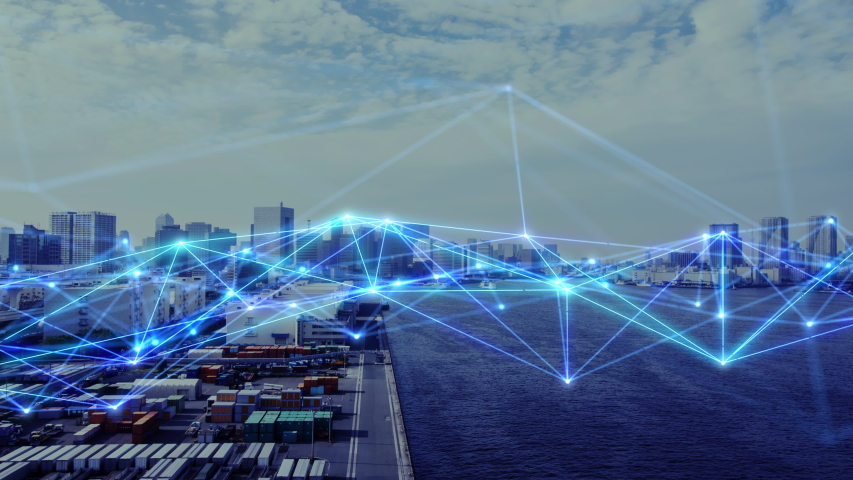 Communication network concept. Smart city. | Shutterstock HD Video #1031278421