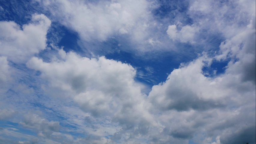 4k time lapse beautiful blue sky with clouds background.Sky clouds.Sky with clouds weather nature cloud blue.Blue sky with clouds | Shutterstock HD Video #1031349833