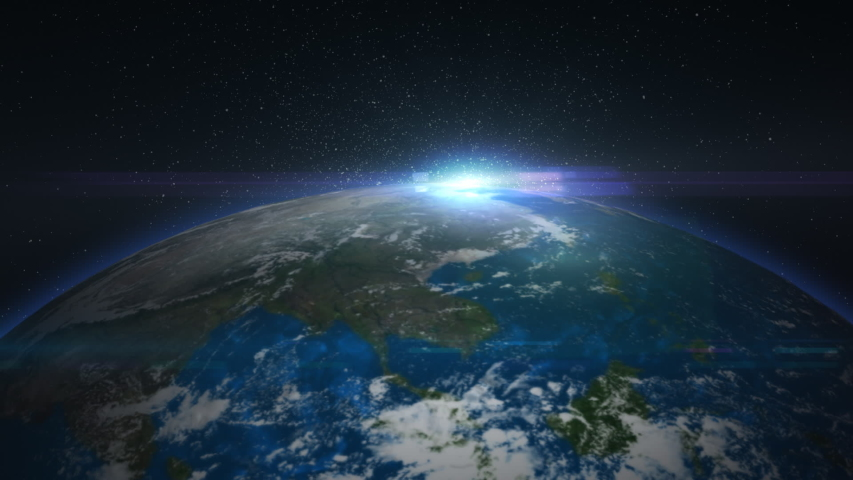 Earth in particles seen from space | Shutterstock HD Video #1031356892