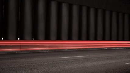 Super fast car lights in minimal style. Motion time lapse colorful urban background texture. Modern cityscape road traffic. Night traffic in tunel.