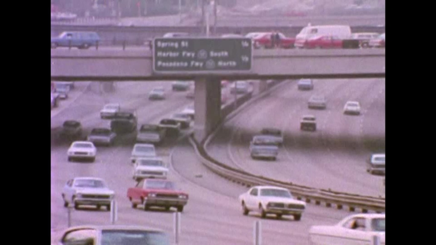 CIRCA 1970s - Traffic in Los Angeles in the 1970's.