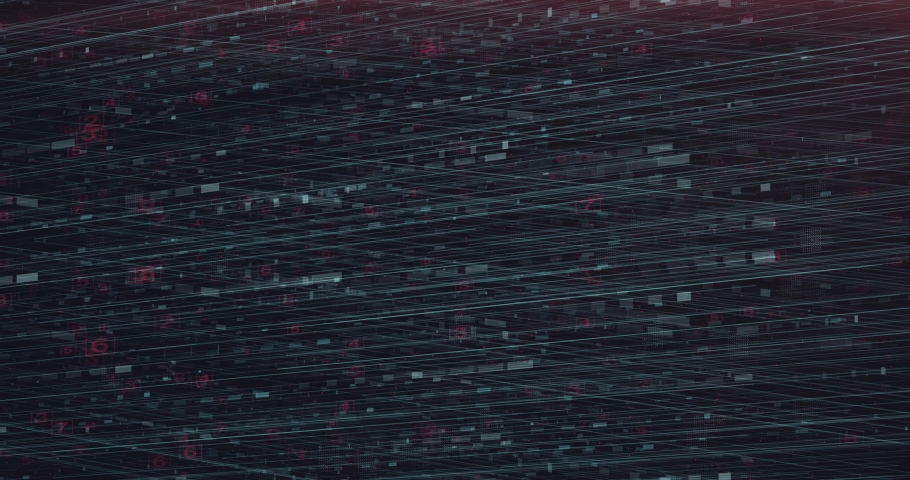 Abstract digital background hi-tech and scientific technology data.  Technological particles. Digital VR and AR future computer interface. Global network connect communication or social media loop. | Shutterstock HD Video #1031528042
