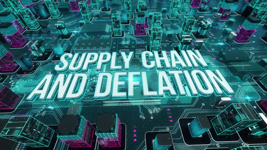 Supply Chain and Deflation digital technology hi-tech concept | Shutterstock HD Video #1031558525