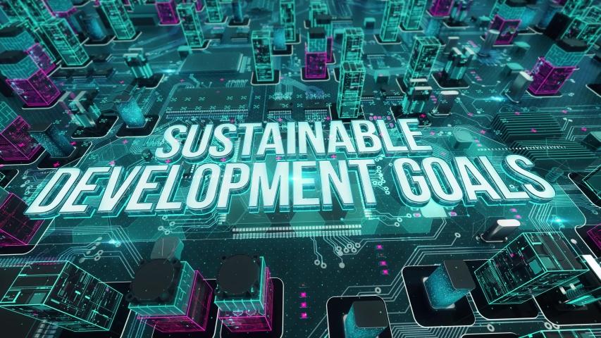 Sustainable Development Goals digital technology hi-tech concept | Shutterstock HD Video #1031558705
