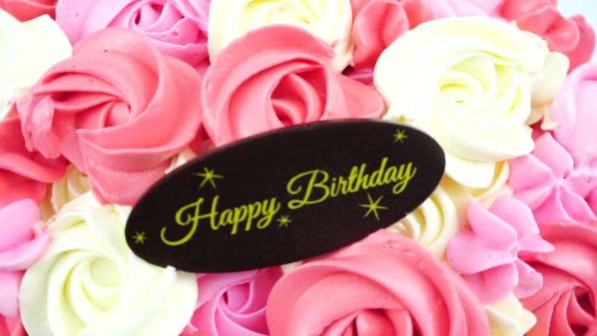 Fabulous Colorful Rose Cake Happy Birthday Stock Footage Video 100 Birthday Cards Printable Nowaargucafe Filternl