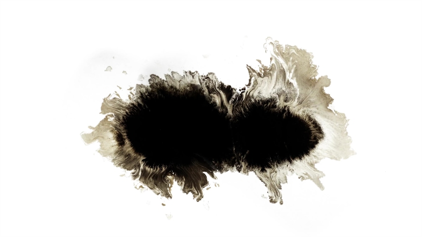 Ink Transition 4k Footage Ink Drop on white background, Ink Animation 6 - 8