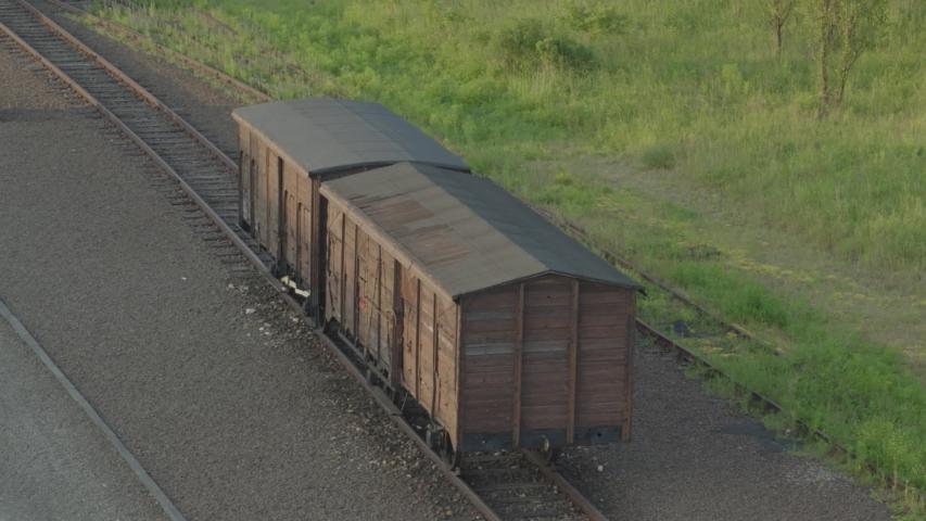 Railroad wagon from Auschwitz Birkenau