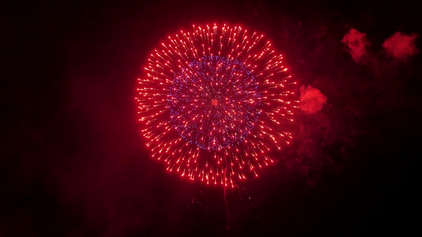 The fireworks in the night sky | Shutterstock HD Video #1031655026