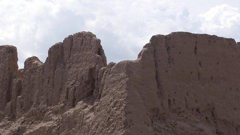 Uzbekistan The ruins of ancient fortresses on the caravan route.