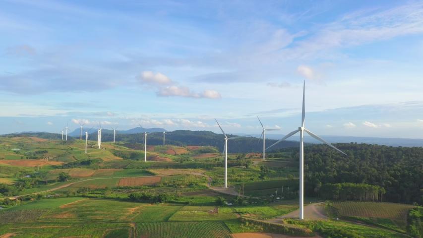 Khao Kho wind turbine fields in Thailand | Shutterstock HD Video #1031681624