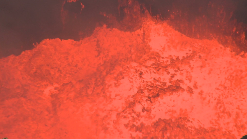 Fountains Of Lava Erupt In Crater Of Volcano - Marum | Shutterstock HD Video #1031789306