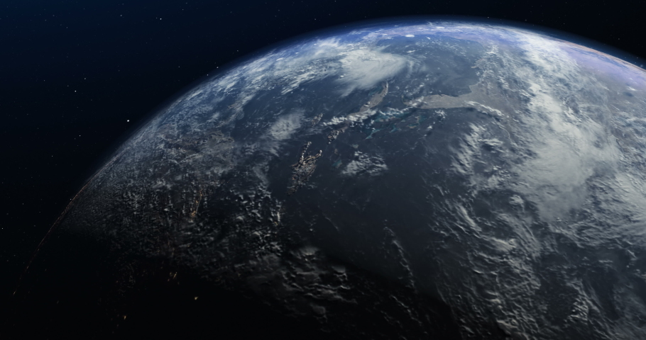 Animation of the planet Earth in the space. low orbit | Shutterstock HD Video #1031804813