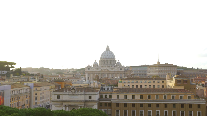 Vatican Cityscape Golden Hour Time Lapse   Shutterstock HD Video #1031833304