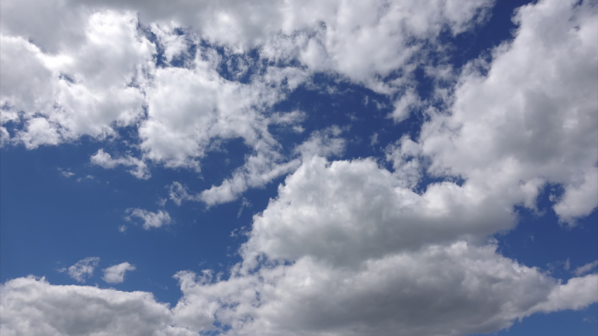 Clouds in the blue sky, time-lapse. Abstract background. Bright colors in the heaven | Shutterstock HD Video #1031848934