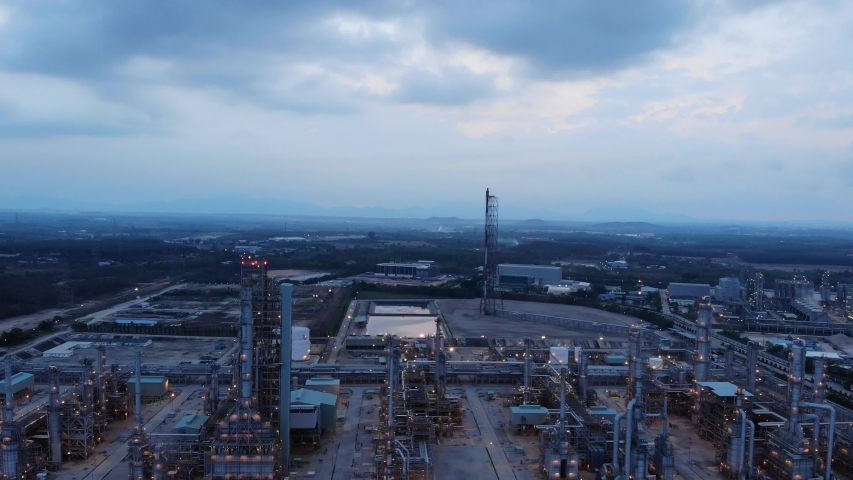Oil and gas chemical tank oil industry, 4K | Shutterstock HD Video #1031865287