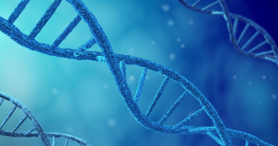 Rotating DNA Synthesis, Replication and Modification of Molecule Process in Vitro. Concept of CRISPR Biotechnology and Bioengineering in Chemistry and Science Royalty-Free Stock Footage #1031901461