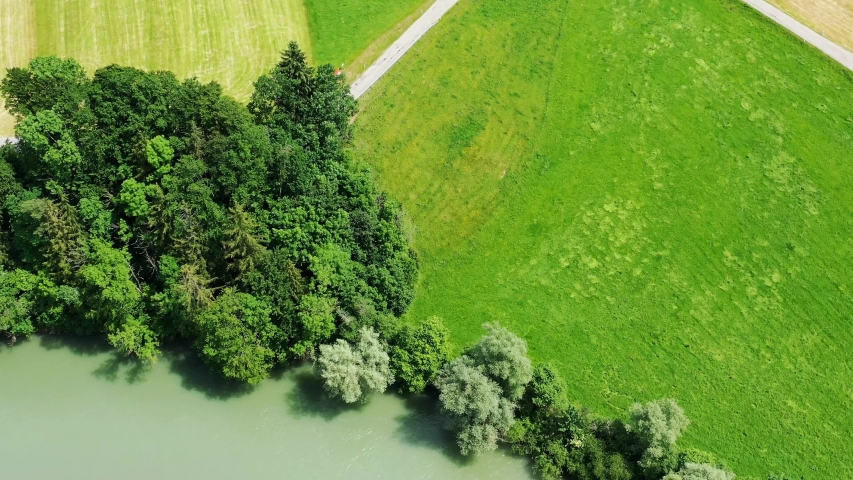 The river Iller from above | Shutterstock HD Video #1031922437