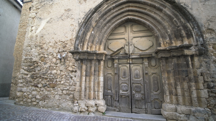 Exterior of the church in the Stilo, Calabria, Italy, Europe. | Shutterstock HD Video #1031980991