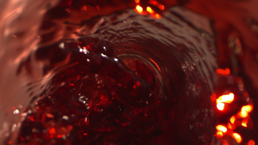 Wine Pouring with Swirl Whirlpool from Bottle in the Glass on Phantom and Laowa