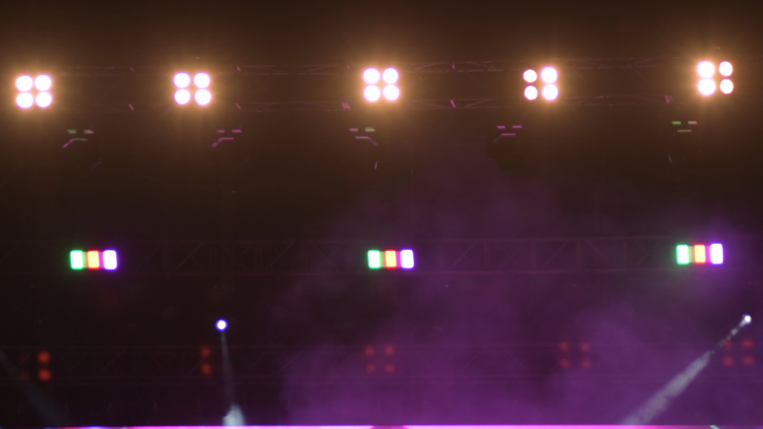 Lights stages beating in a rock concert show | Shutterstock HD Video #1032037127