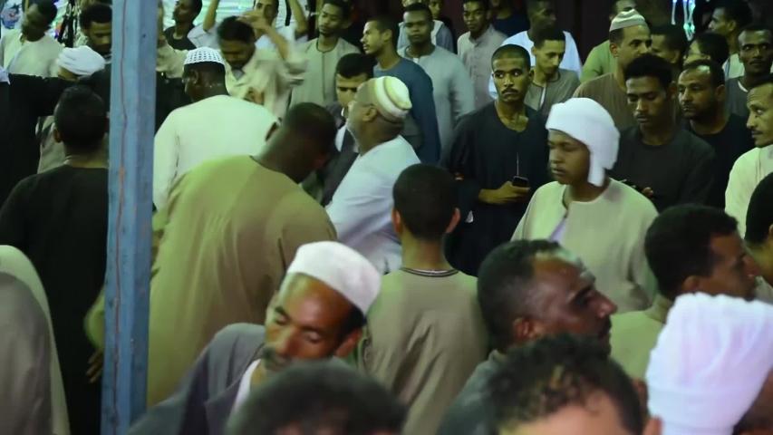 A celebration of the Sufi Muslims - location aswan - egypt   23/6/2018 | Shutterstock HD Video #1032080324