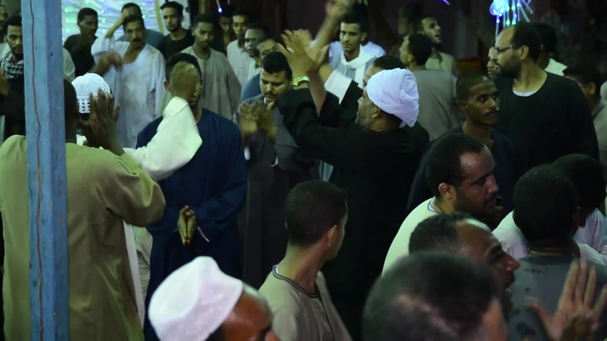 A celebration of the Sufi Muslims - location aswan - egypt   23/6/2018 | Shutterstock HD Video #1032081935