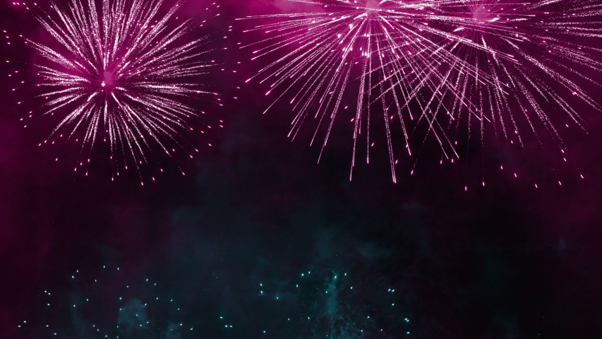 Colorful firework display for 4th of July,  festival, event, party, new year concept background | Shutterstock HD Video #1032085088