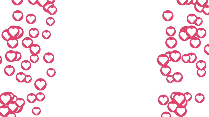 Left right up Love heart shape social symbol icon graphic style animation | Shutterstock HD Video #1032088460