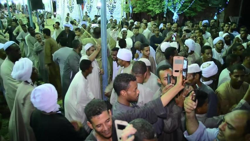 A celebration of the Sufi Muslims - location aswan - egypt   23/6/2018 | Shutterstock HD Video #1032090605